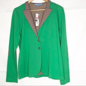 antonio melani cardigan large NWT green MSRP $149
